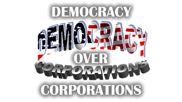 Democracy Over Corporations header and link to home page
