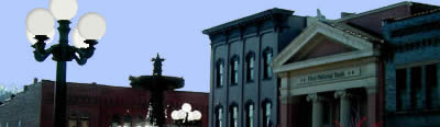 Image of Historic Square Arts Distrrict in Nelsonville, Ohio